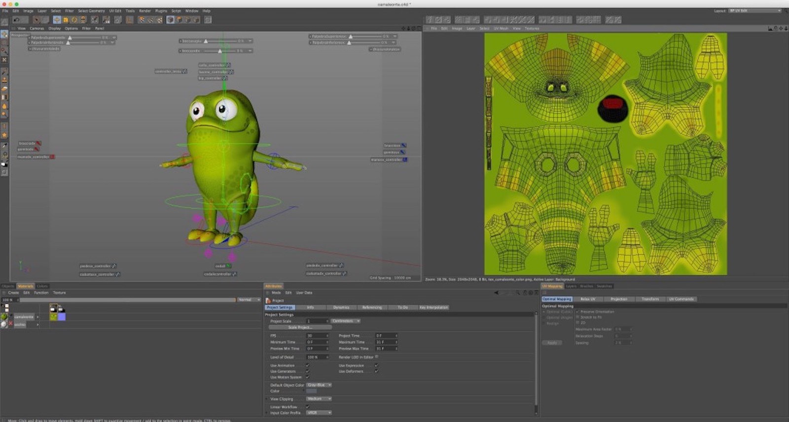 C4D jumpstarts the Chameleon