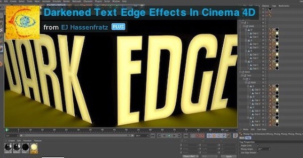 Darkened Text Edge Effects