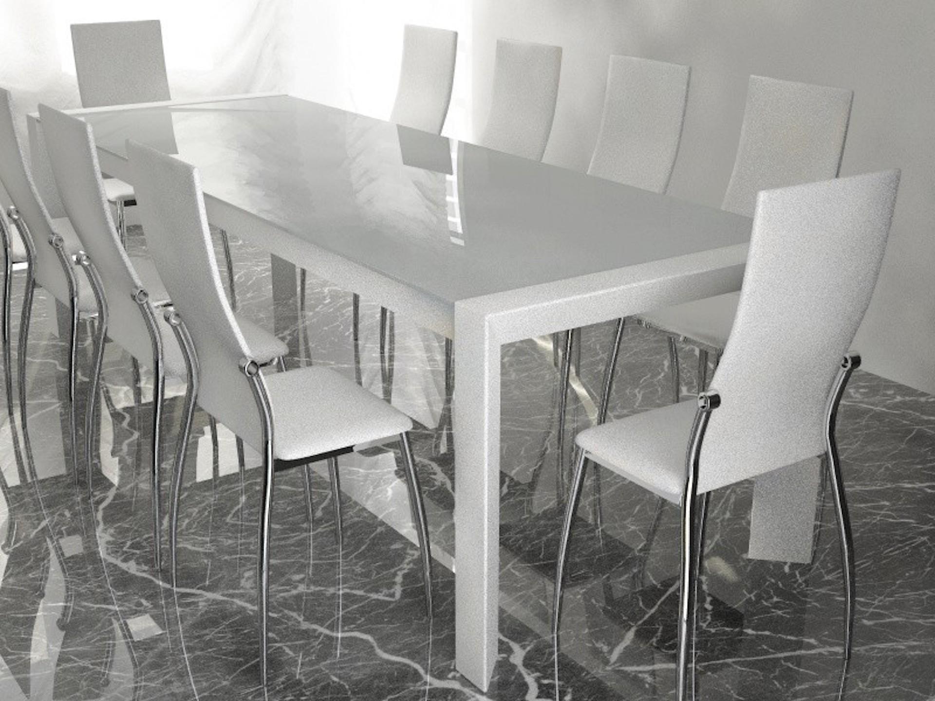 Tavolo moderno con sedie modelli download c4dzone - Tavolo in vetro mondo convenienza ...