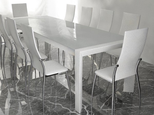 Modern table with chairs