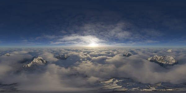 FREE HDRI Skies Above Clouds for Aviation/Aerospace Industry