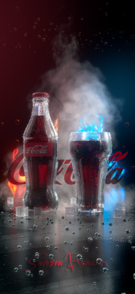 Coca Cola product shot...