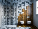 Hexagonal bathroom