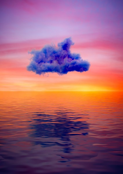 Cloud above the sea