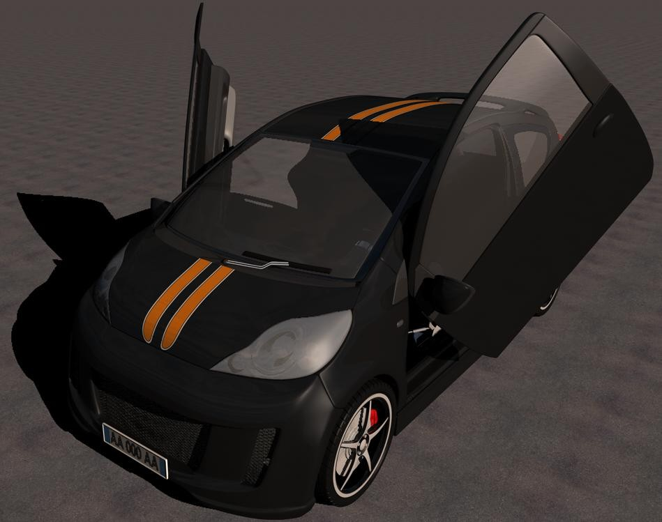 peugeot 107 tuning bimbo207 gallery c4dzone. Black Bedroom Furniture Sets. Home Design Ideas