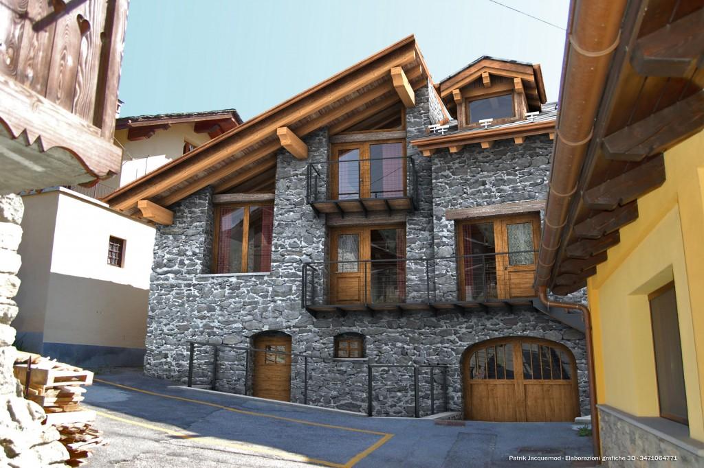 Favoloso Ristrutturazione casa Michel - chamin - Gallery - C4Dzone EE71