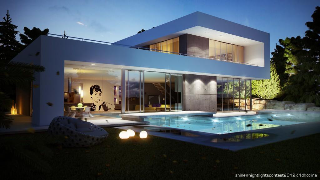 Villa non un loft shine gallery c4dzone - Progetto villa con piscina ...