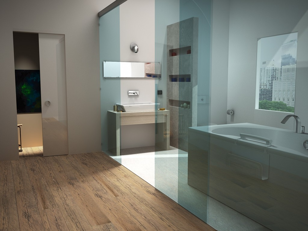 Bagno moderno simo70 gallery c4dzone for Bagno padronale moderno