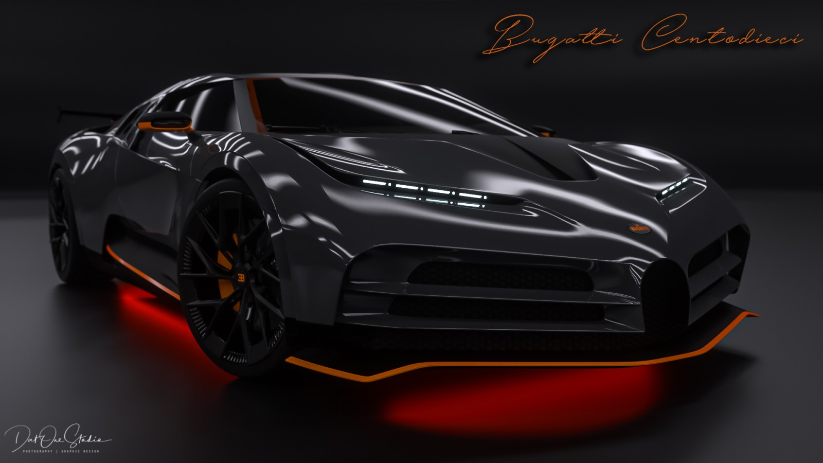 Bugatti Black and Orange