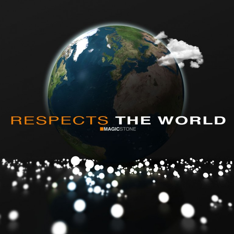 Respects the world
