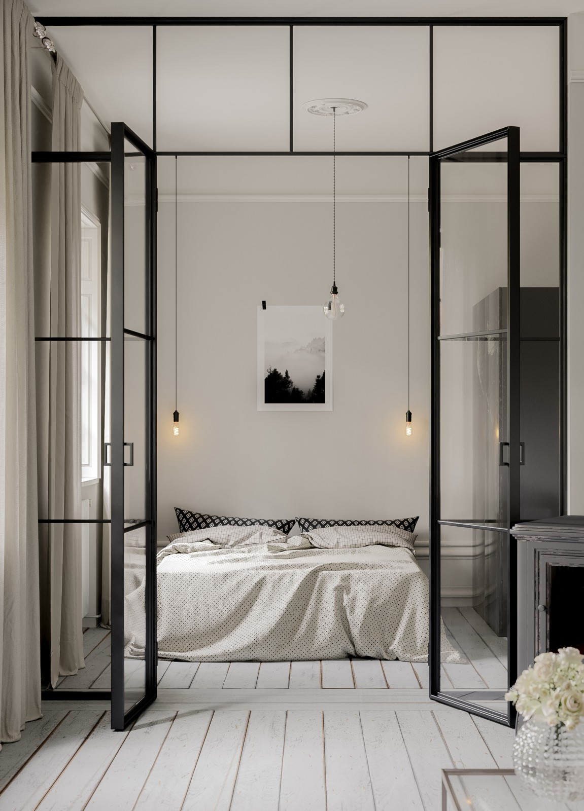 scandinavian bedroom interior 02